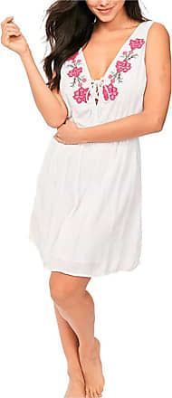 Figleaves Womens Salma Embroidered Dress Size 12 in White