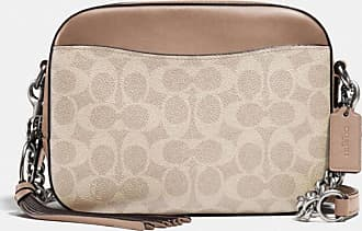 Coach Camera Bag In Signature Canvas in Beige