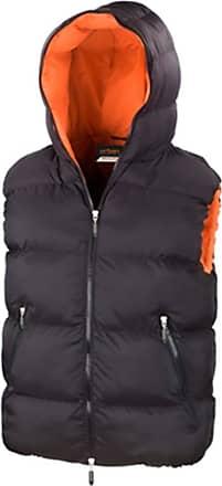 Result Hooded Down Feel Gilet Black Size XXL