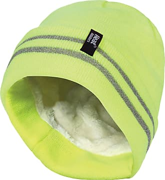 Heat Holders Mens hi vis Reflective Outdoor Winter Thermal Knitted high Visibility Turnover hat in Orange and Yellow (One Size, Hi Vis Yellow)