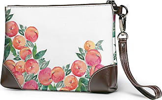 GLGFashion Womens Leather Wristlet Clutch Wallet Flower Storage Purse With Strap Zipper Pouch