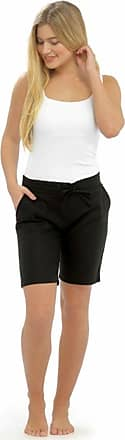 Tom Franks LADIES / WOMENS CASUAL LINEN COOL SHORTS, PERFECT FOR HOLIDAYS / SUMMER / BEACH (18, Black (4 pockets))