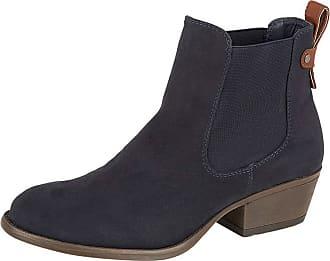 Lora Dora Womens Chunky Block Heel Chelsea Boots Lilly-Rose Navy UK 4