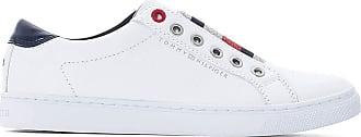241efad61ec6 Tommy Hilfiger Baskets cuir Elastic Essential Sneaker - TOMMY HILFIGER -  Blanc