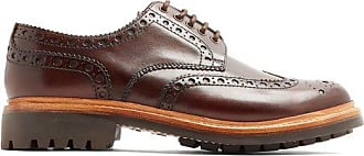 Grenson Archie Leather Brogues - Mens - Brown