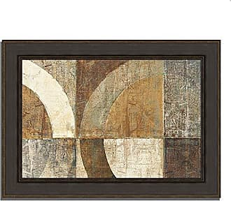 Tangletown Fine Art Circular Sculpture by Wild Apple Portfolio Framed Art Brown, Tan, Taupe, White, Gray