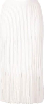 Dion Lee Plissierter Godet Midirock - Weiß