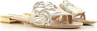 Salvatore Ferragamo Sandals for Women On Sale in Outlet, Gold, Nappa, 2019, 4 4.5 6.5