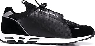 Emporio Armani micro perforated sneakers - Black