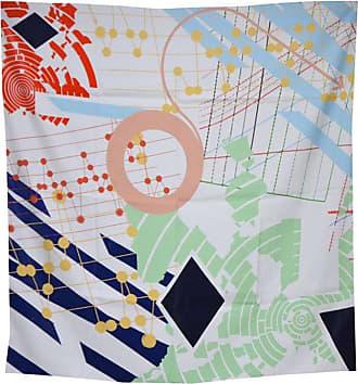 Hermès Music Graphics Contemporary 100% Silk Scarf Minimal Colorful
