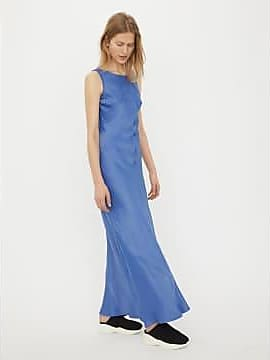 Langes mit schlitz kleid blaues Blaues Kleid