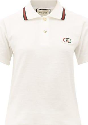 Gucci GG-appliqué Cotton-terry Polo Shirt - Womens - Ivory