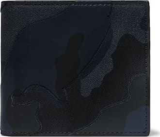 a4c0542210 Valentino Valentino Garavani Camouflage-print Canvas And Leather Billfold  Wallet - Midnight blue