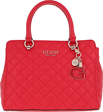 Guess Melise Luxury Satchel Bag Red