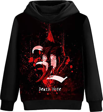 Haililais Death Note Pullover Patterned Printing Pure Cotton Comfortable Hooded Sweatshirt Spring and Autumn Pullover Unisex (Color : A01, Size : XL)