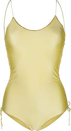 Oséree Maiô com acabamento metálico - Amarelo