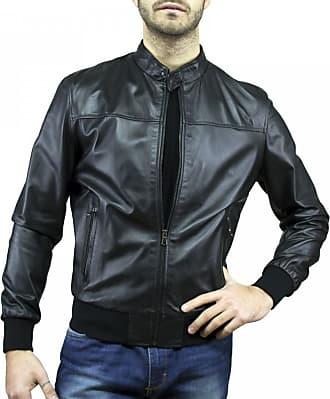 Leather Trend Italy Frank - Giacca Uomo in Vera Pelle colore Nero Morbida