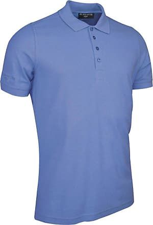 Glenmuir Mens MSC7211 Classic Fit Cotton Pique Polo Shirt Light Blue L