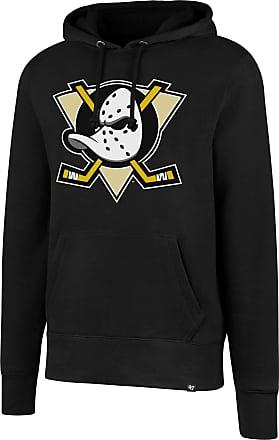 47 Brand 47 MLB Anaheim Ducks Imprint HEADLINE Hood - Brushed Fleece Hoodie Polycotton Blend - Distressed Print Officially Licensed Premium Quality Design and