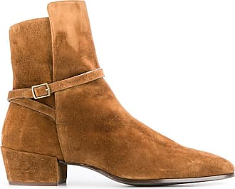 Saint Laurent Clementi suede boots - Brown