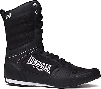 Lonsdale Mens Contender Boxing Boots Full Lace Up Sport Shoes Trainers Footwear Black/White UK 12