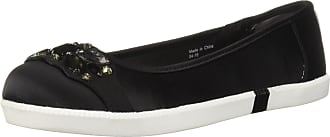 Kenneth Cole Reaction Womens Row-ing 2 Skimmer Flat with Jewels Ballet, Black, 5.5 UK