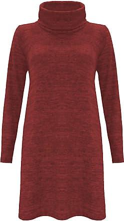 The Celebrity Fashion Womens Jumper Dress Uk Size 8-10 = S/M Wine-Fleece Soft Knit Knitted Knitwear Warm Date