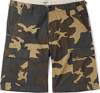 Carhartt Work in Progress Aviation Camouflage-print Cotton-ripstop Cargo Shorts - Green