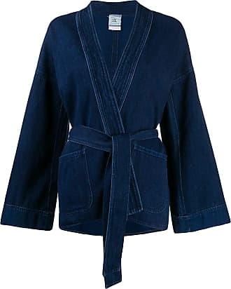 Forte_Forte boxy fit open front jacket - Blue