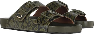 L'autre Chose Sandals - Flat Ayers Prin Kaki Green - green - Sandals for ladies