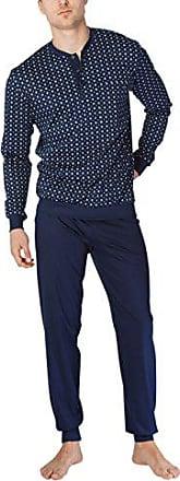 5e854a84b6bc92 CALIDA Matt Herren Pyjama mit Bündchen Zweiteiliger Schlafanzug
