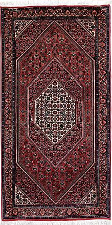 Nain Trading 138x70 Tappeto Orientale Bidjar Corridore Marrone Scuro/Ruggine (Persia/Iran, Lana / Seta, Annodato a mano)