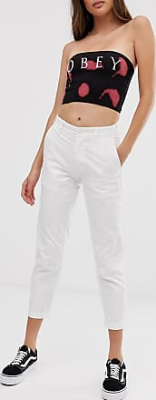 Obey slim fit carpenter pant-White
