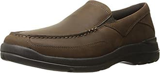 Rockport Mens City Play Two Slip On Oxford, Dark Brown Leather, 10.5 W US