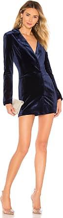 by the way. Logan Velvet Blazer Dress in Blue