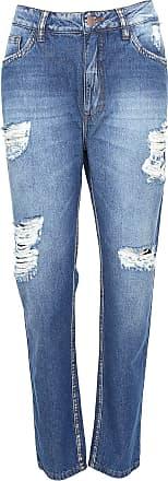 Enfim Calça Jeans Enfim Boyfriend Destroyed Azul