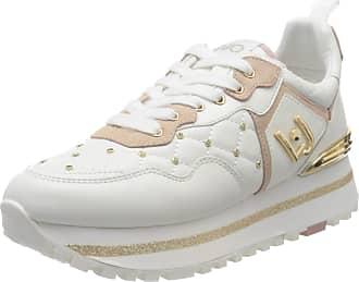 Liu Jo Womens Maxi Alexa-Running Low-Top Sneakers, White (White 01111), 8 UK