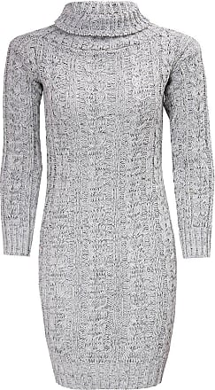 Women Knitted Long Sleeve Deep V Neck Sweater Jumper Knitwear Slim Mini Dress UK