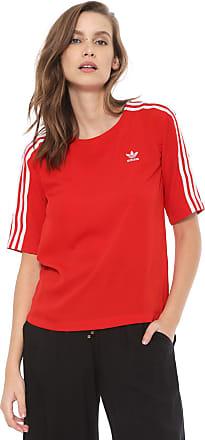 2ae2e189656 adidas Originals Camiseta adidas Originals 3 Stripes Vermelha