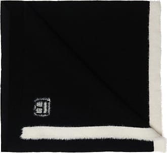 Balmain Wool Scarf With Logo Womens Black