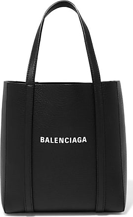 Balenciaga Everyday Mini Printed Textured-leather Tote - Black