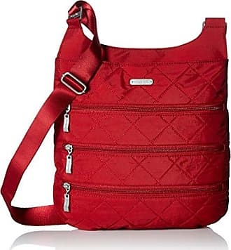 Baggallini Quilted Big Zipper bagg with RFID, red