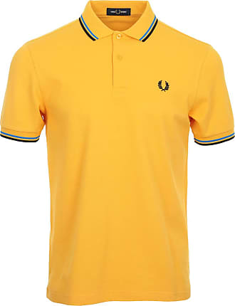 Fred Perry Twin Tipped Shirt, Polo Shirt - M Yellow