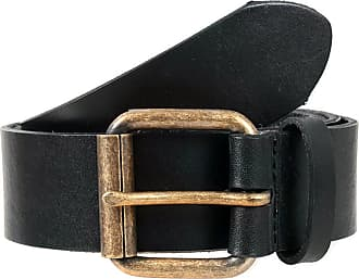 Dents Casual Waxed Leather Belt (Black, X-Large)