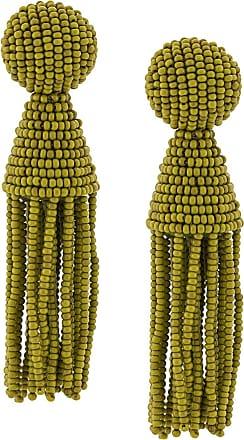 Oscar De La Renta beaded tassel earrings - Green