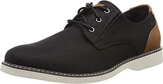 d0d868e97ee Skechers Parton-Wilcon, Zapatos de Cordones Brogue para Hombre, Negro  (Black Blk