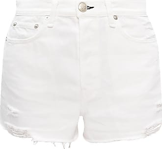 WHITE Denim shorts with logo  Rag & Bone  Jeansshorts - Dameklær er billig