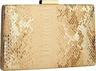 YYW womens Snakeskin Clutch Evening Bag gold Size: One size