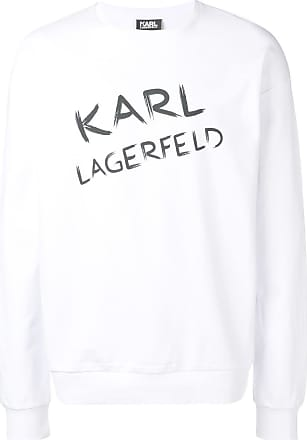 Karl Lagerfeld logo print sweatshirt - White