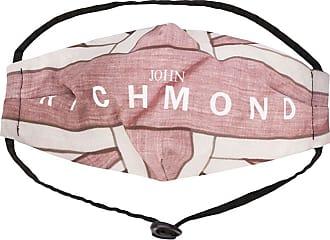 John Richmond Máscara de proteção com estampa de logo - Marrom